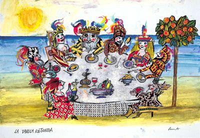 Bozzetto per calendario,1999 tecnica mista - collezione famiglia Luzzati